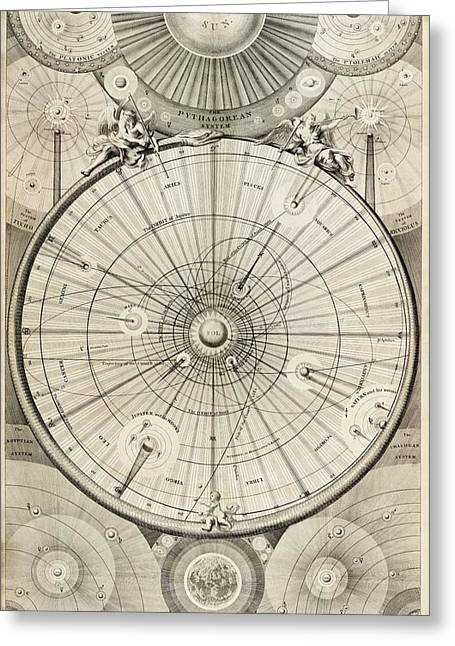 Platonic Greeting Cards - 18th Century Astronomical Diagrams Greeting Card by Library Of Congress