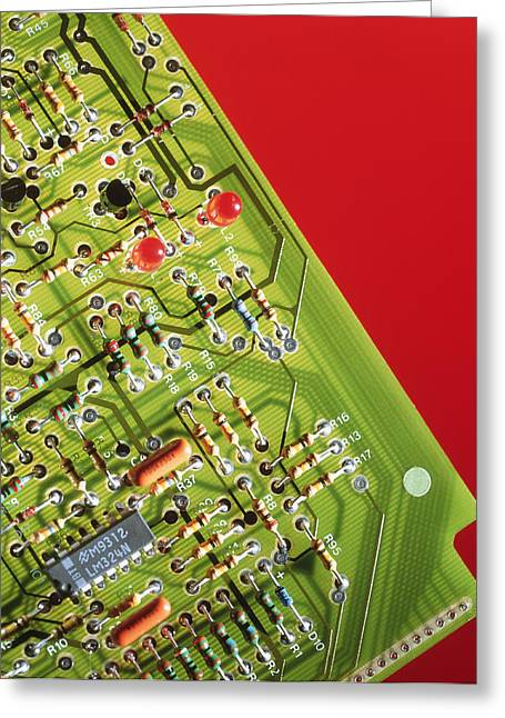 Non-integrated Electronics Greeting Cards - Circuit Board Greeting Card by Tek Image