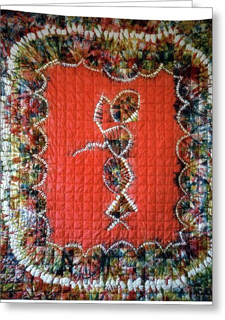 Bass Tapestries - Textiles Greeting Cards - 19 Greeting Card by Mildred Thibodeaux