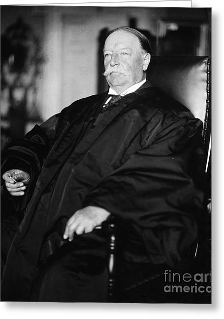 Chief Justice Greeting Cards - William Howard Taft Greeting Card by Granger