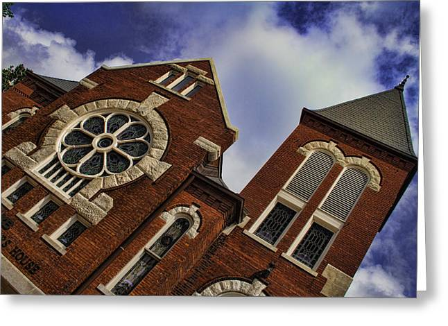 Uab Greeting Cards - 1901 UAB Spencer Honors House Greeting Card by Kathy Clark
