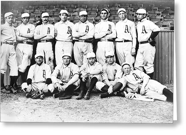 Shibe Greeting Cards - 1902 Philadelphia Athletics Greeting Card by Bill Cannon