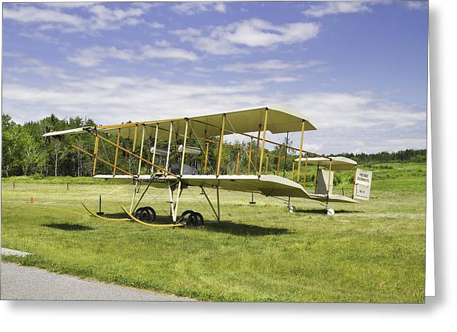 Airfield Greeting Cards - 1910 Henri Farman III Biplane Photo Poster Print Greeting Card by Keith Webber Jr