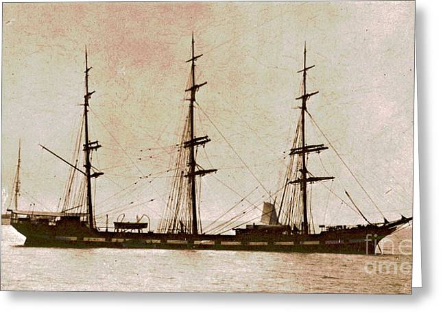 Historic Schooner Greeting Cards - 1911 Balclutha Greeting Card by Padre Art
