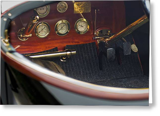 1912 Hispano-suiza 15-45 Hp Alfonso Xiii Jaquot Torpedo Dashboard Greeting Card by Jill Reger