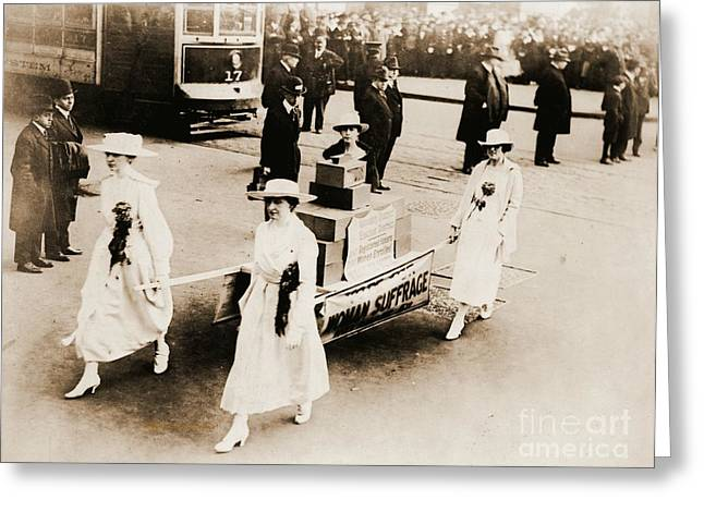 Political Rally Greeting Cards - 1915 New York City Suffrage Parade Greeting Card by Padre Art