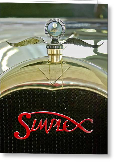 1916 Crane-simplex Model 5 Seven-passenger Touring Hood Ornament Greeting Card by Jill Reger