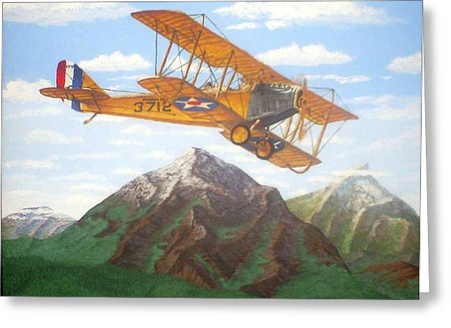 1917 Curtis Jenny JN4 used by the Army Air Corps Greeting Card by Mickael Bruce