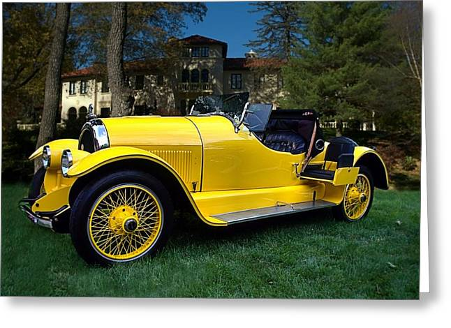 Gold Bug Greeting Cards - 1920 Kissell Silver Special Speedster Gold Bug Greeting Card by Tim McCullough