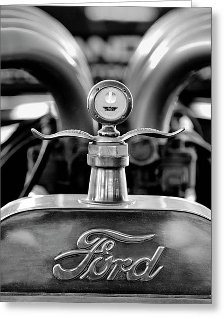 Parts Of Cars Greeting Cards - 1923 Ford Hood Ornament 2 Greeting Card by Jill Reger