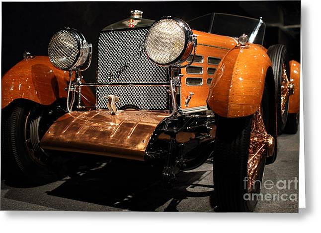 Hispano Suiza Dubonnet Tulipwood Greeting Cards - 1924 Hispano Suiza Dubonnet Tulipwood . Grille Angle Greeting Card by Wingsdomain Art and Photography