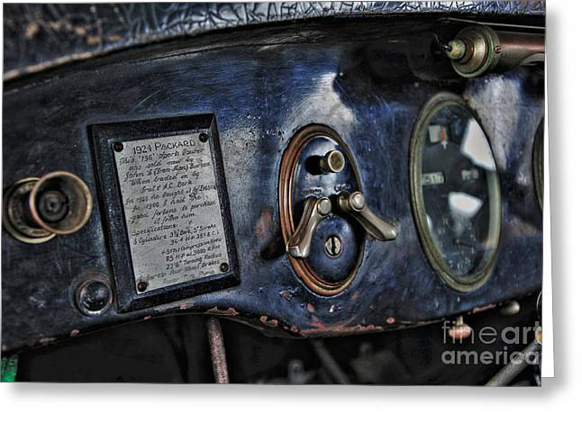 Owner Photographs Greeting Cards - 1924 Packard - Dash Greeting Card by Kaye Menner