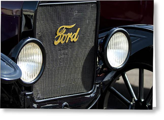 1925 Ford Model T Coupe Grille Greeting Card by Jill Reger