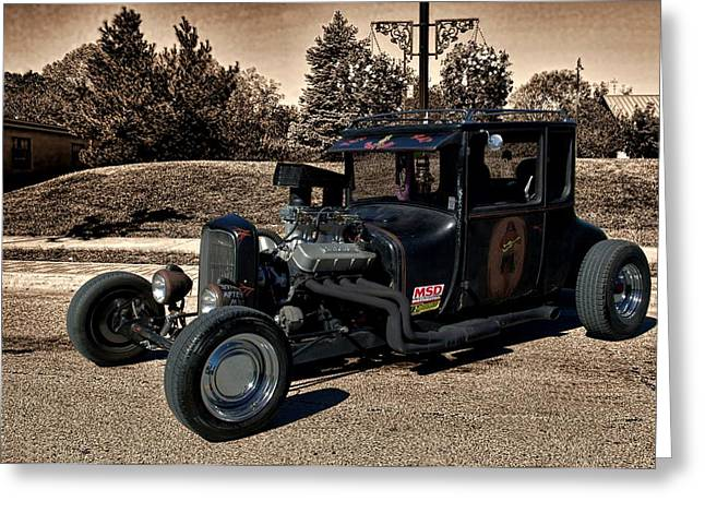 1927 Ford High Top T Rat Rod Greeting Card by Tim McCullough