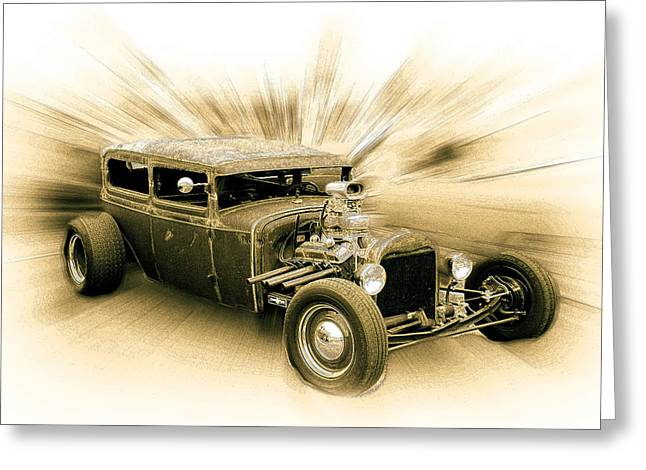 1949 Plymouth Greeting Cards - 1928 Ford Sedan Greeting Card by Steve McKinzie