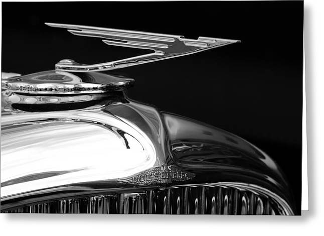 Collector Hood Ornament Greeting Cards - 1929 Duesenberg Model J Hood Ornament 2 Greeting Card by Jill Reger