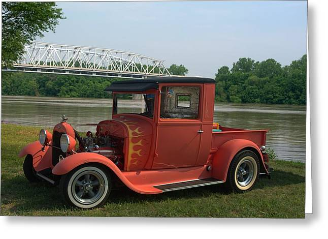 High Top Greeting Cards - 1929 Ford High Top Pickup Truck Greeting Card by Tim McCullough