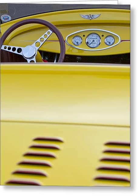 1929 Roadster Greeting Cards - 1929 Ford Model A Roadster Greeting Card by Jill Reger