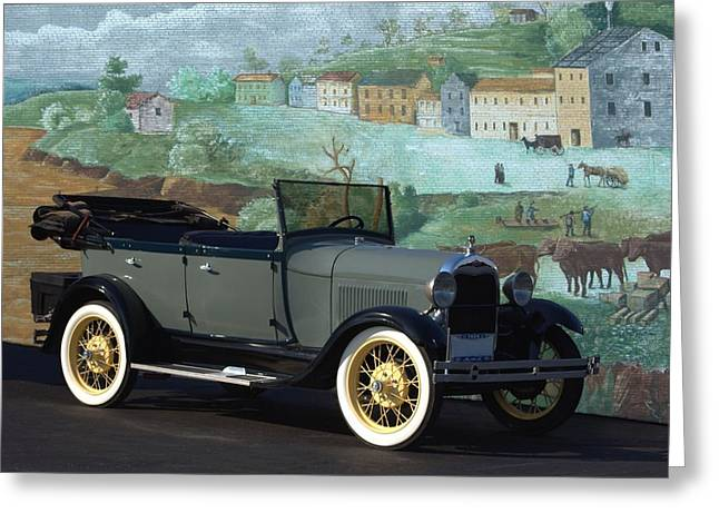 Touring Car Greeting Cards - 1929 Ford Model A Touring Car Greeting Card by Tim McCullough