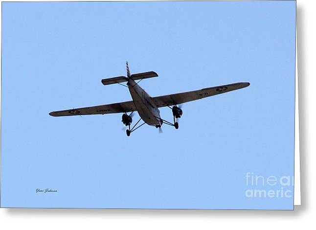 Ford Tri-motor Greeting Cards - 1929 Ford Tri-Motor plane Greeting Card by Yumi Johnson
