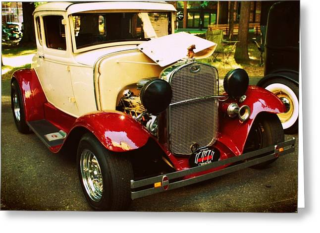 Ford Model A Greeting Cards - 1930 Ford Model A Coupe Greeting Card by Cathie Tyler