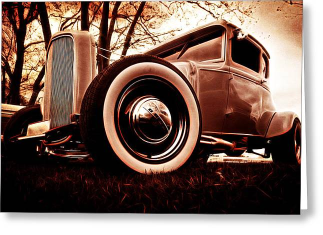 Phil Motography Clark Greeting Cards - 1930 Ford Model A Greeting Card by Phil