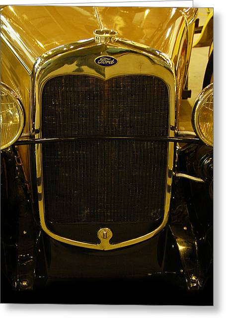 Roadster Grill Greeting Cards - 1930 Ford Model A Rumble Seat Roadster Grill Greeting Card by Ken Smith
