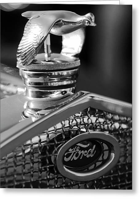 Car Mascots Greeting Cards - 1930 Ford Quail Hood Ornament 3 Greeting Card by Jill Reger