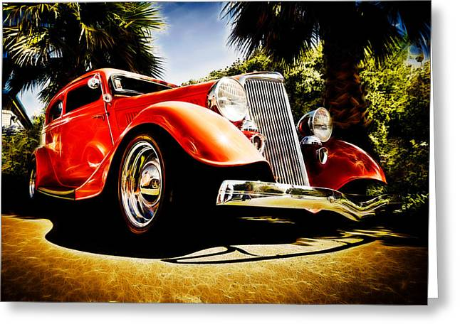 Aotearoa Greeting Cards - 1930s Ford Tudor Greeting Card by Phil