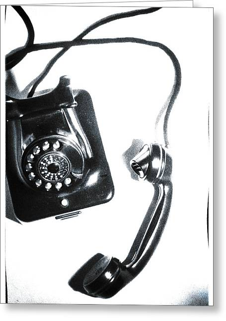 Handset Greeting Cards - 1930s Telephone Greeting Card by David Ridley