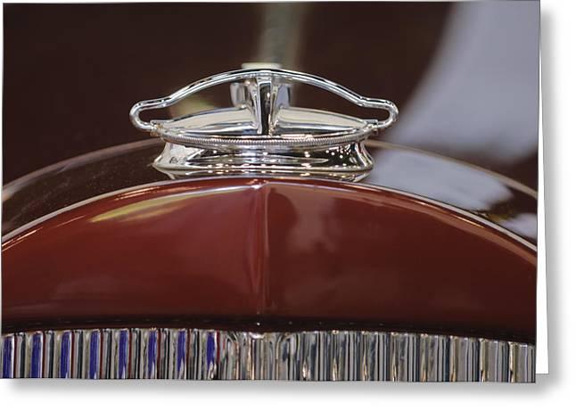 1931 Roadster Greeting Cards - 1931 Packard 840 Roadster Hood Ornament Greeting Card by Jill Reger