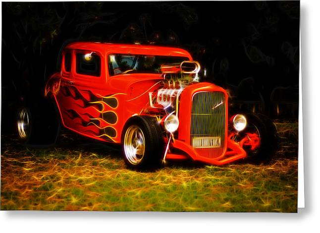 1932 Ford Coupe Hot Rod Greeting Card by Phil 'motography' Clark