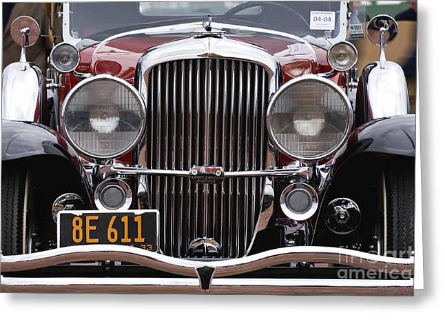 Valuable Greeting Cards - 1933 Duesenberg Model J - D008167 Greeting Card by Daniel Dempster