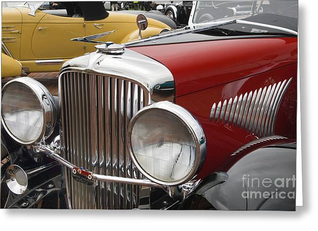 Valuable Greeting Cards - 1933 Duesenberg Model J - D008168 Greeting Card by Daniel Dempster