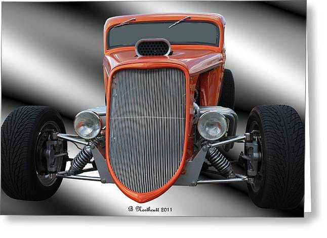 Betty Northcutt Greeting Cards - 1933 Ford Roadster - Hotrod Version Of Scream Greeting Card by Betty Northcutt