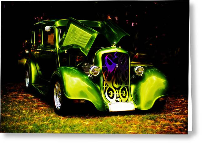 Motography Photographs Greeting Cards - 1933 Plymouth Hot Rod Greeting Card by Phil