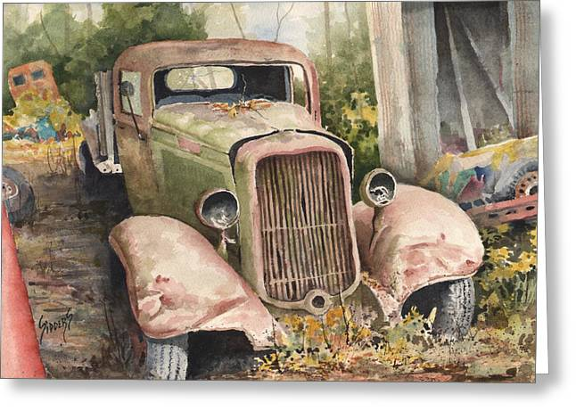Pickup Greeting Cards - 1934 Dodge Half-Ton Greeting Card by Sam Sidders