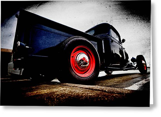 Ford Hotrod Greeting Cards - 1934 Ford Pickup Greeting Card by Phil