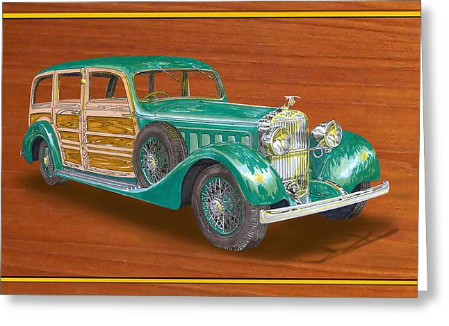 1934 Hispanosuzia Shooting Brake Greeting Card by Jack Pumphrey