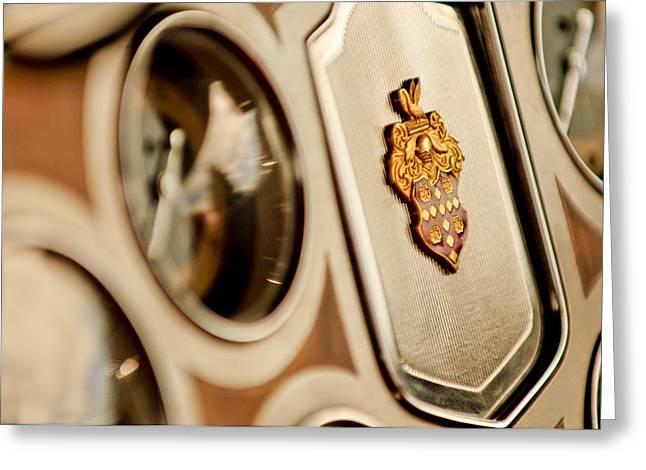 1934 Packard 1104 Super Eight Phaeton Emblem Greeting Card by Jill Reger