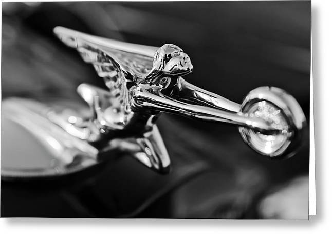 Collector Hood Ornament Greeting Cards - 1934 Packard Hood Ornament 2 Greeting Card by Jill Reger