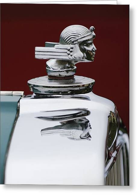 Beach Photography Greeting Cards - 1934 Stutz SV-16 Hood Ornament Greeting Card by Jill Reger