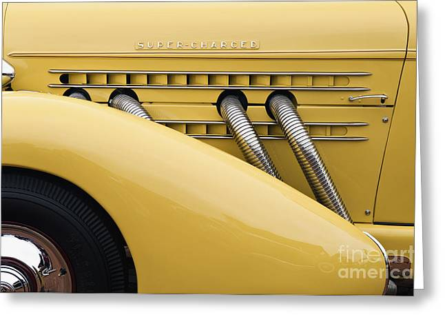 Valuable Greeting Cards - 1935 Auburn 851 SC Speedster Detail - D008160 Greeting Card by Daniel Dempster