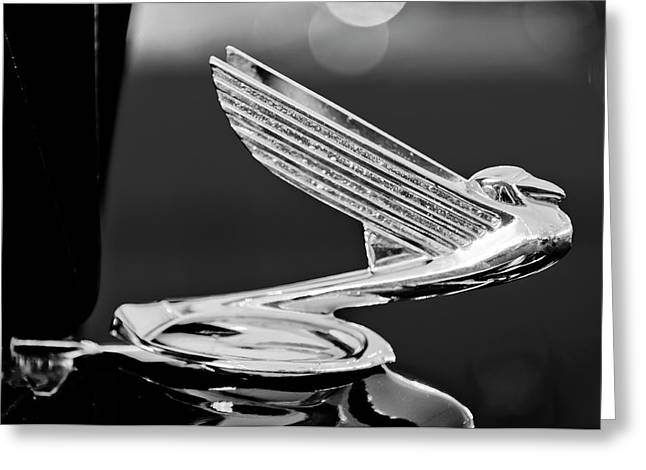 Parts Of Cars Greeting Cards - 1935 Chevrolet Hood Ornament 4 Greeting Card by Jill Reger