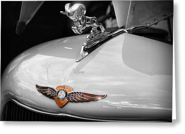 1934 Dodge Greeting Cards - 1935 Dodge Brothers Pickup - Ram Hood Ornament Greeting Card by Gordon Dean II