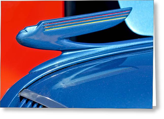 Car Mascot Greeting Cards - 1936 Chevrolet Hood Ornament 2 Greeting Card by Jill Reger