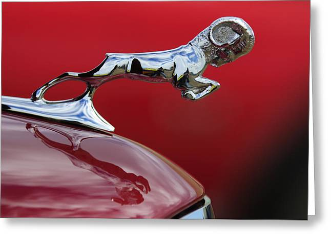 Collector Hood Ornament Greeting Cards - 1936 Dodge Ram Greeting Card by Jill Reger