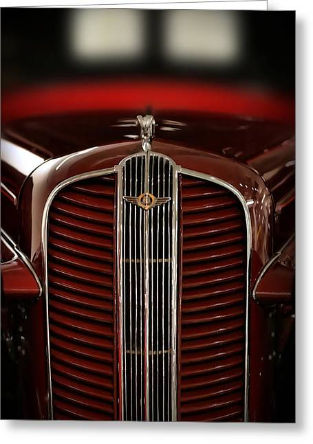 Burgundy Digital Art Greeting Cards - 1937 Dodge Half-Ton Panel Delivery Truck Greeting Card by Gordon Dean II
