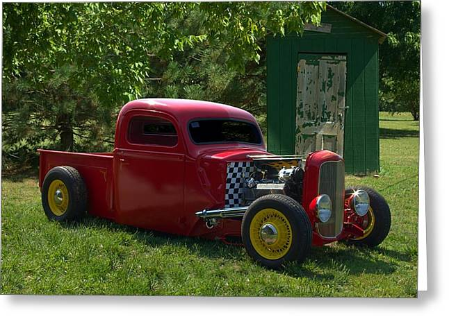 32 Ford Truck Greeting Cards - 1937 Ford Hot Rod Pickup Truck Greeting Card by Tim McCullough