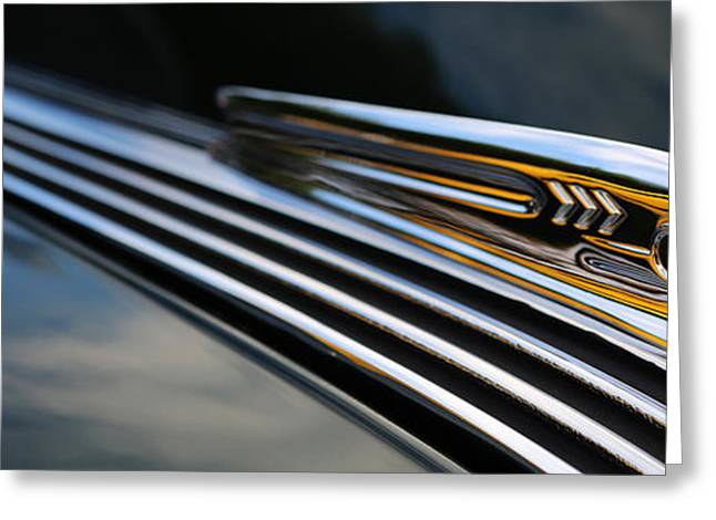 Travel Truck Greeting Cards - 1937 Pontiac Torpedo Indian Head Hood Ornament  Greeting Card by Lee Dos Santos